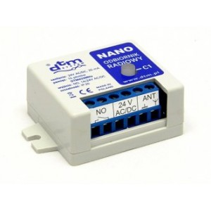 Odbiornik radiowy NANO 1 kanałowy 24V